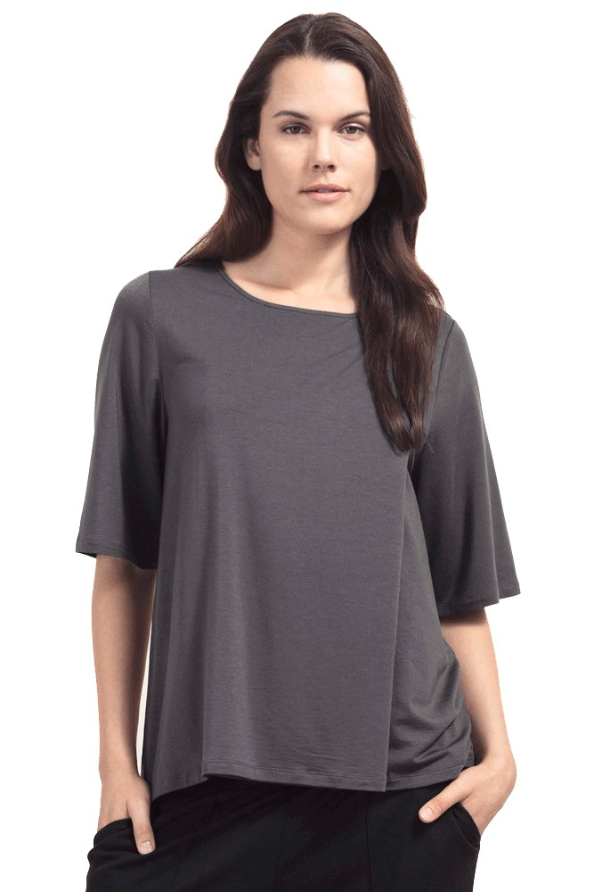 Boob Design Li Relaxed Fit Elbow Sleeve Maternity & Nursing Top (Magnet)