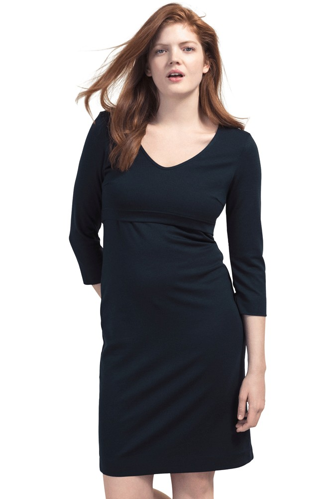 Boob Design Essential Ponte Nursing Dress (Midnight Blue)