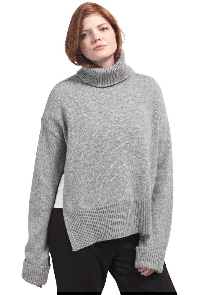 Boob Design Jamie Wool Knit Nursing Sweater (Grey Melange)