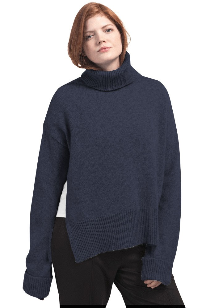 Boob Design Jamie Wool Knit Nursing Sweater (Midnight Blue)