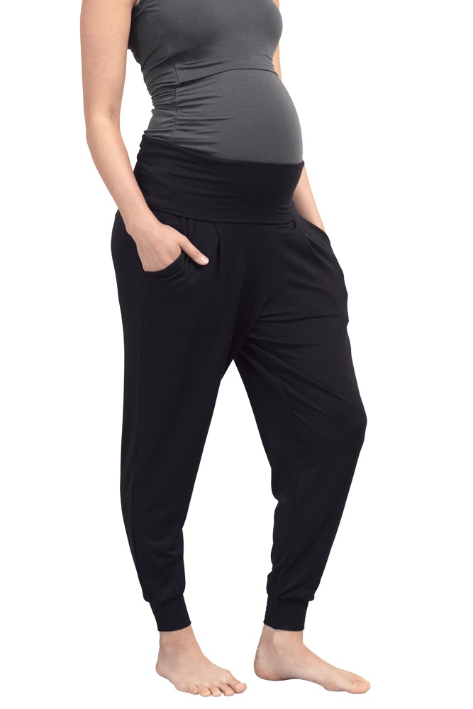 Boob Design Once-On-Never-Off Maternity Easy Pants (Black)