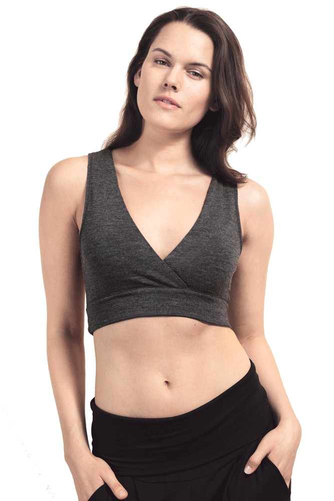 Boob Design Organic Merino Wool 24/7 Nursing Sleep Bra (Dark Grey Melange)