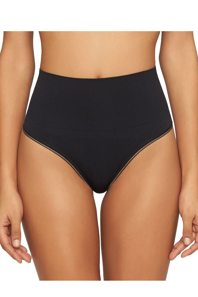 Yummie Ultralight Seamless Shaping Thong (Black)