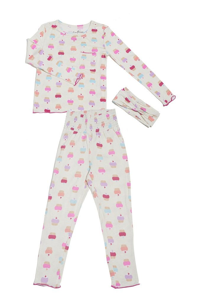 Charlie Kids 3-Piece PJ Pant Set by Everly Grey (Cupcakes)