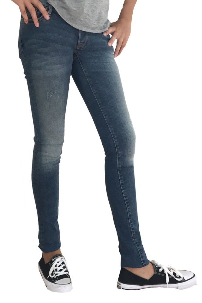 Kelly Over the Belly Skinny Maternity & After Baby Jeans (Tinted Blue)