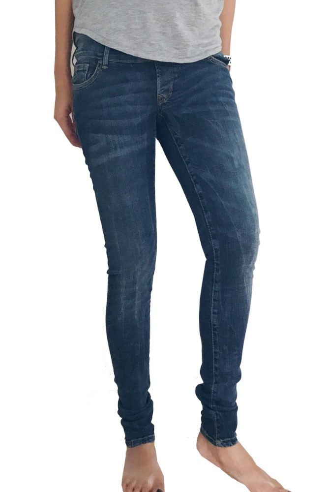 Avi Over the Belly Skinny Maternity & After Baby Jeans (Misty Blue)