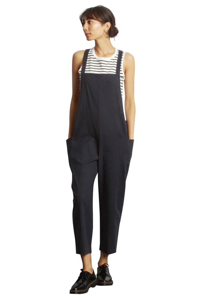 The Arlo Overall Jumper (Navy Linen)