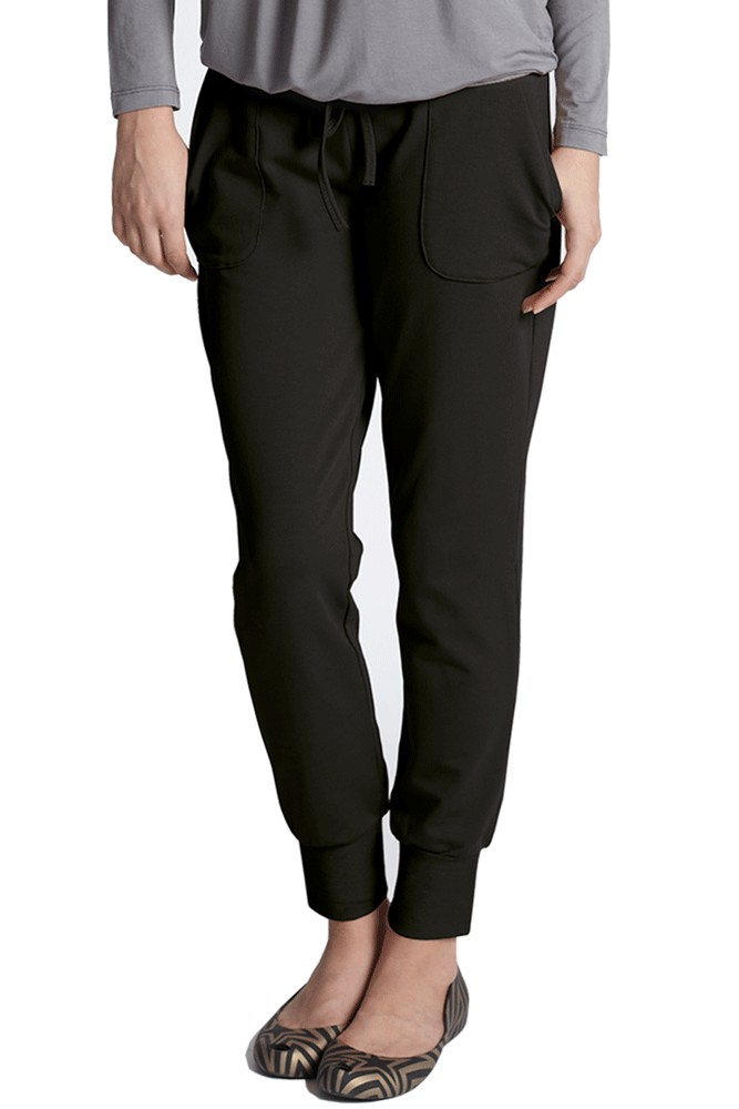 Slouchy Drawstring Pants (Black)