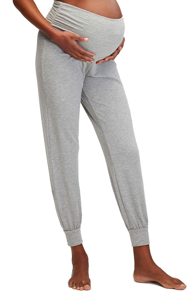 Belabumbum Cozy French Terry Foldover Jogger Pant (Grey Marl)
