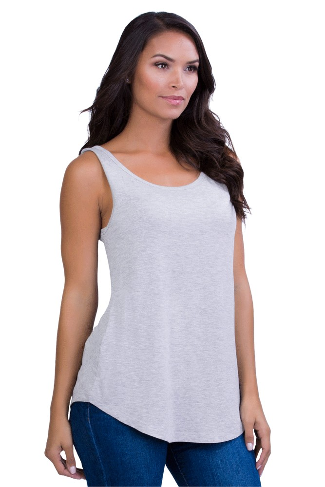Belly Bandit® Perfect Nursing Tank (Heather Grey)