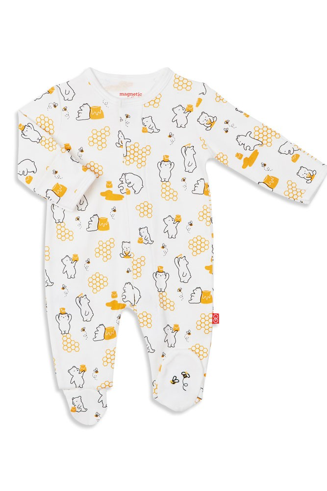 Magnetic Me™ by Magnificent Baby 100% Organic Cotton Footie (Honey Bee Mine)