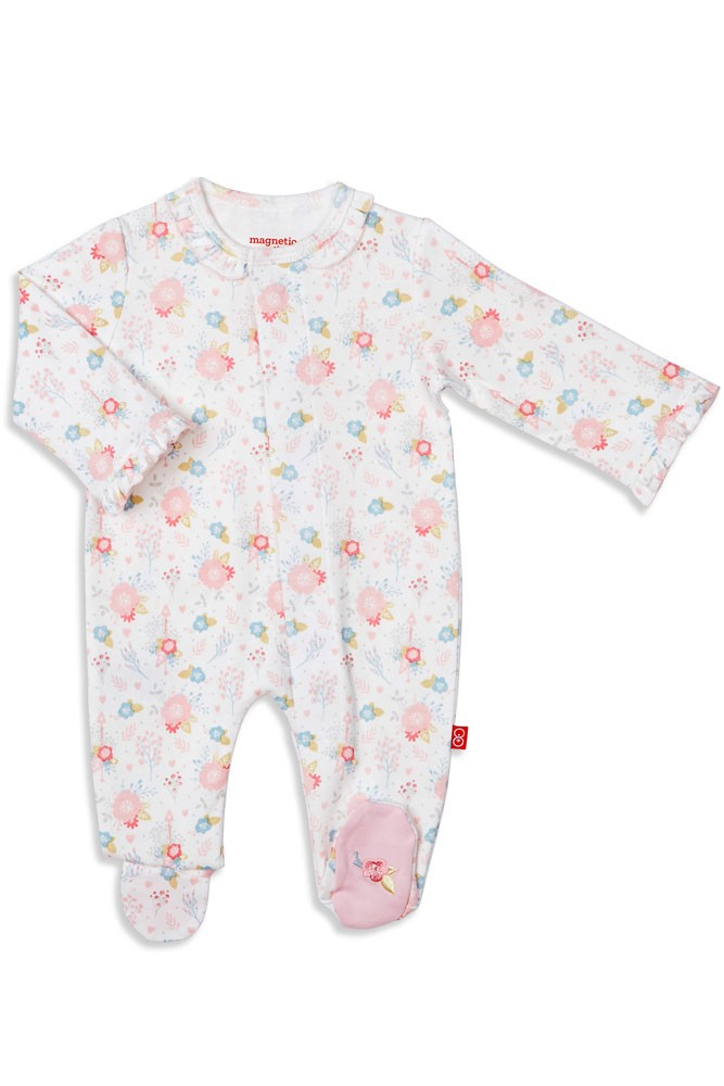 Magnetic Me™ by Magnificent Baby 100% Organic Cotton Footie (Nottingham Floral)