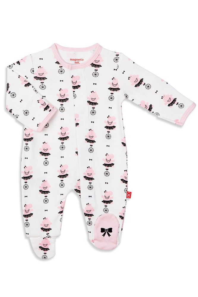 Magnetic Me™ by Magnificent Baby 100% Organic Cotton Footie (Girl Hippo Shake)