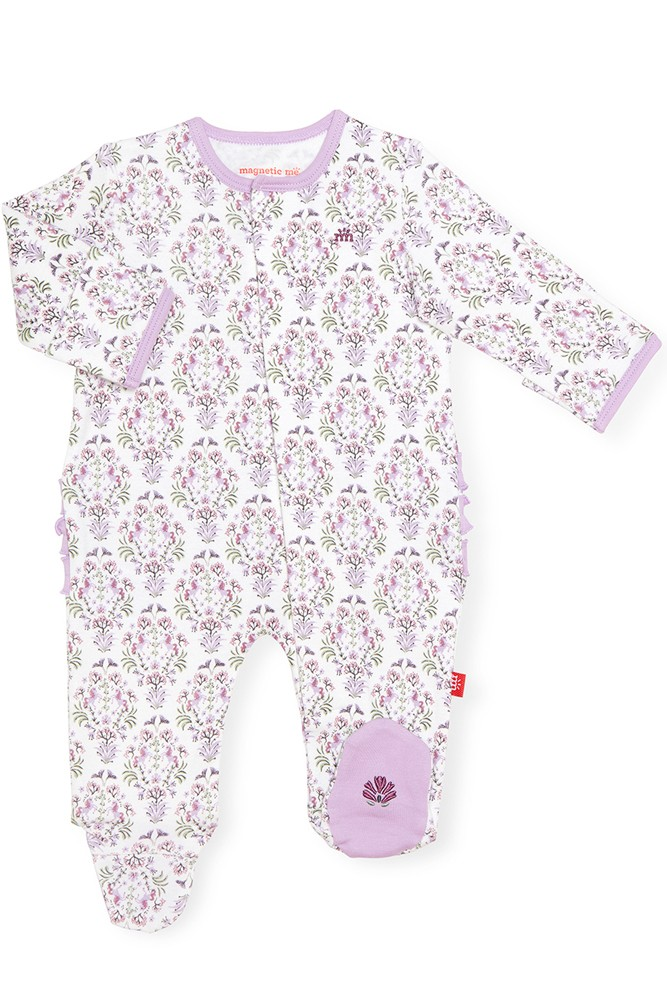 Magnetic Me™ 100% Organic Cotton Magnetic Baby Footie (Unicorn Dreams)