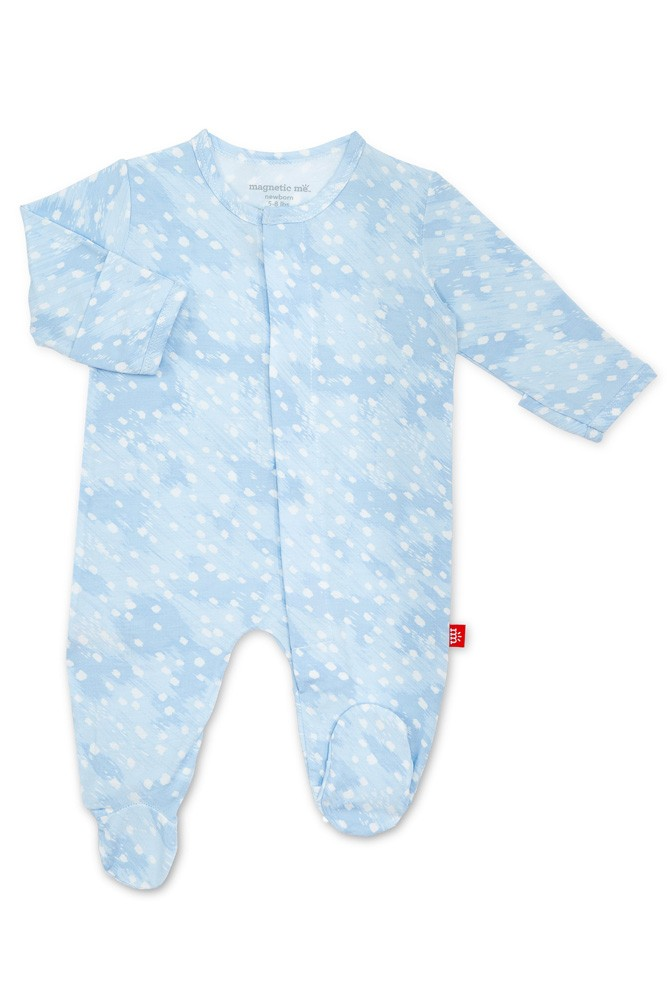 Magnetic Me™ Modal Magnetic Baby Footie (Blue Doeskin)