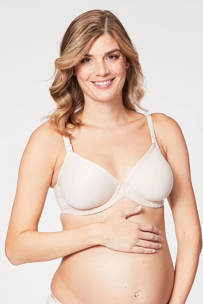 Cake Lingerie Waffles 3D Spacer Contour Nursing Bra with Flexible Wire (Buttermilk)