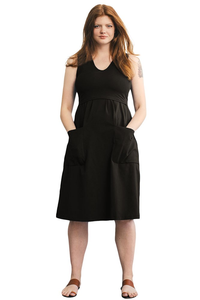 The Depot Organic Maternity & Nursing Dress (Black)