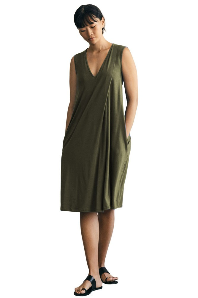Boob Design Lil Maternity & Nursing Dress (Olive leaf)