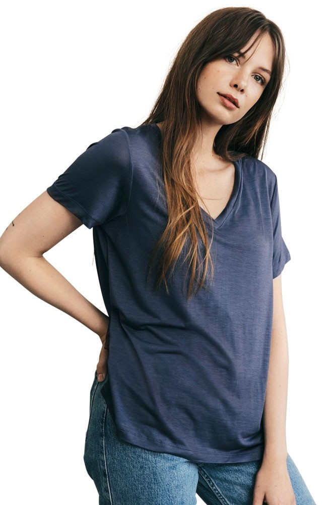 The-Shirt Organic V-Neck Nursing Tee by Boob Design (Vintage Indigo)