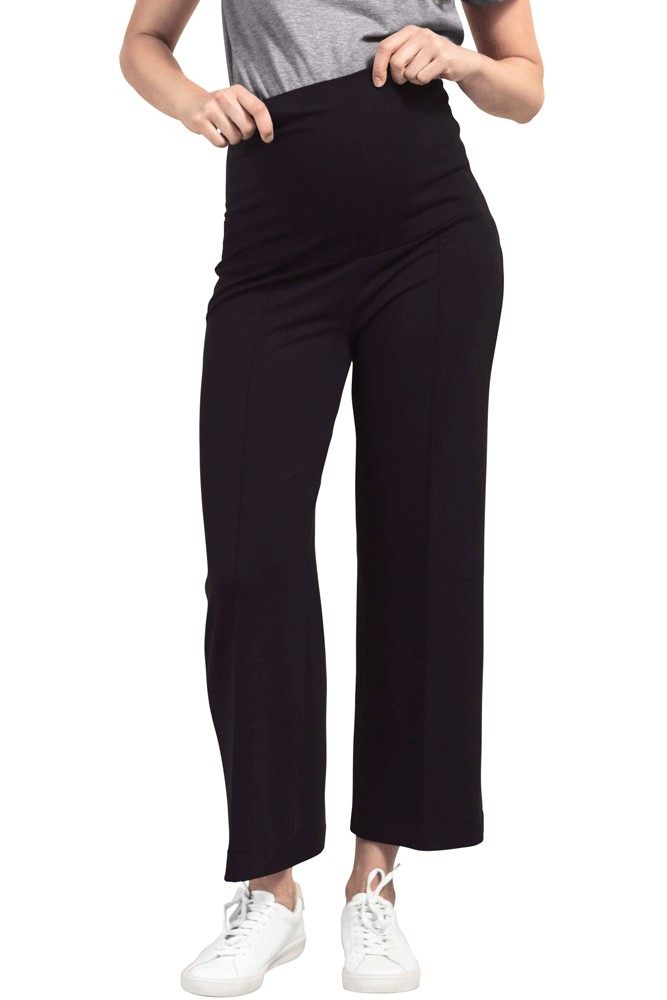 Boob Design Once-on-Never-Off Cropped Trousers (Black)