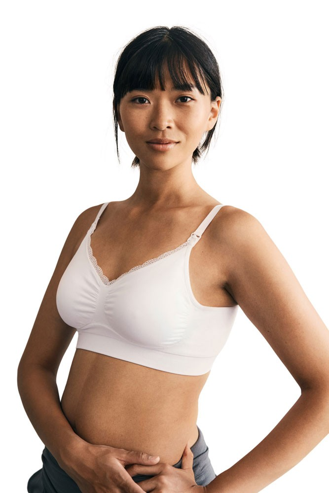 Boob Design Fast Food Nursing Bra (White)
