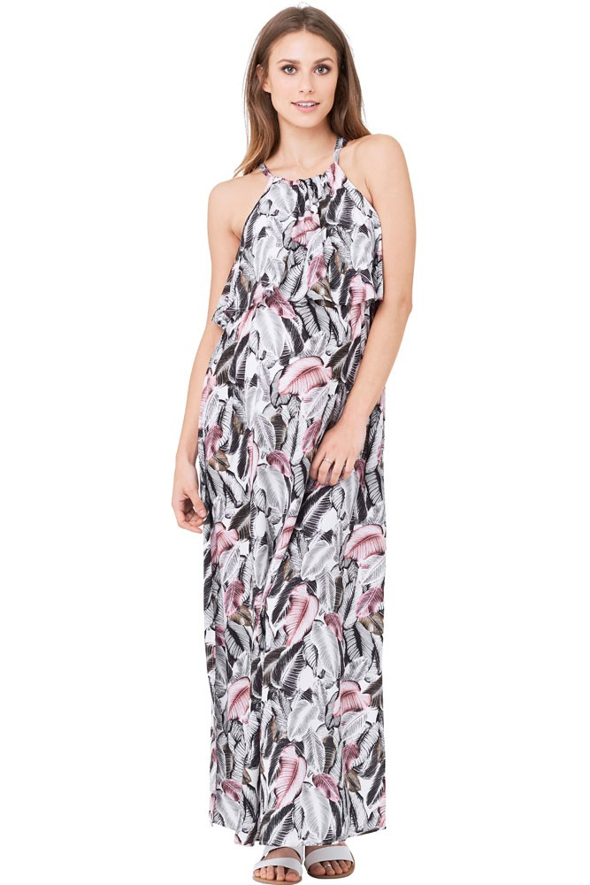 Kresna Halter Maternity & Nursing Dress (Multi Print)