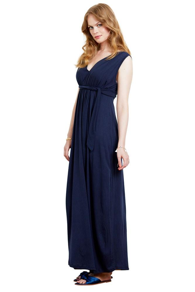 7539791cc13 Lily Goddess Maxi Maternity   Nursing Dress in Midnight Blue by Love ...