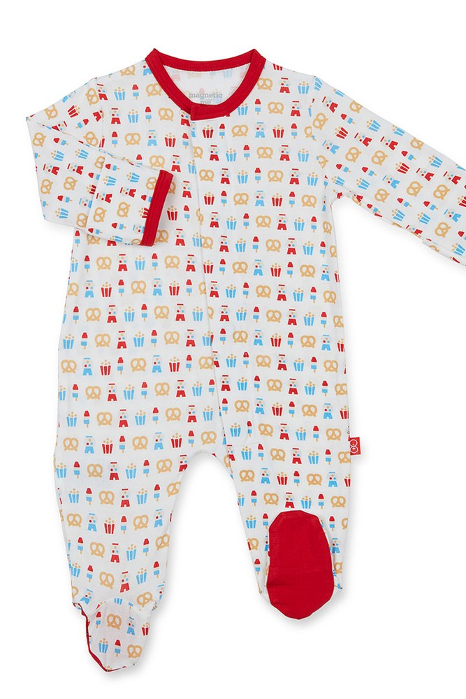 Magnetic Me™ by Magnificent Baby Modal Baby Footie (Summer Fare)