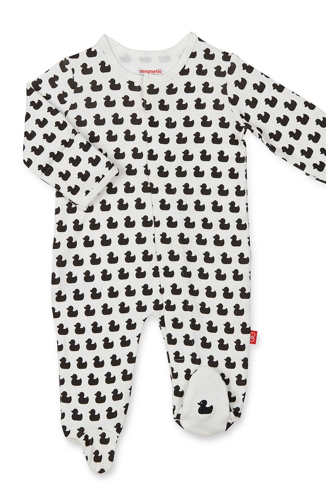Magnificent Baby Magnetic Me™ Organic Cotton Baby Footie (Quack n Roll)