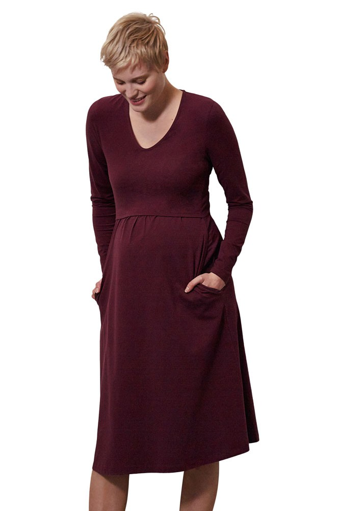Boob Design Charlotte Organic Maternity & Nursing Dress (Plum)