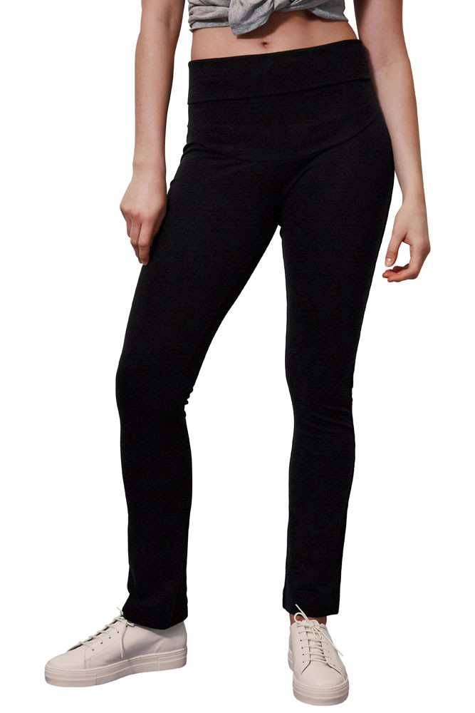 Boob Design Once-On-Never-Off Straight Leg Maternity Pants (Black)
