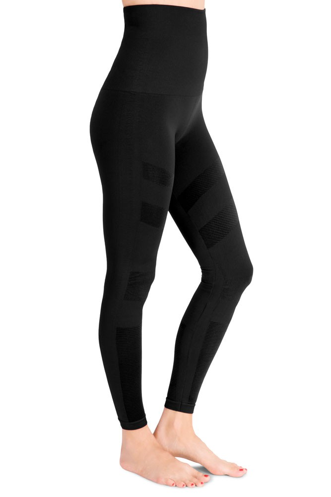 Mother Tucker® Moto Compression Leggings by Belly Bandit (Black)