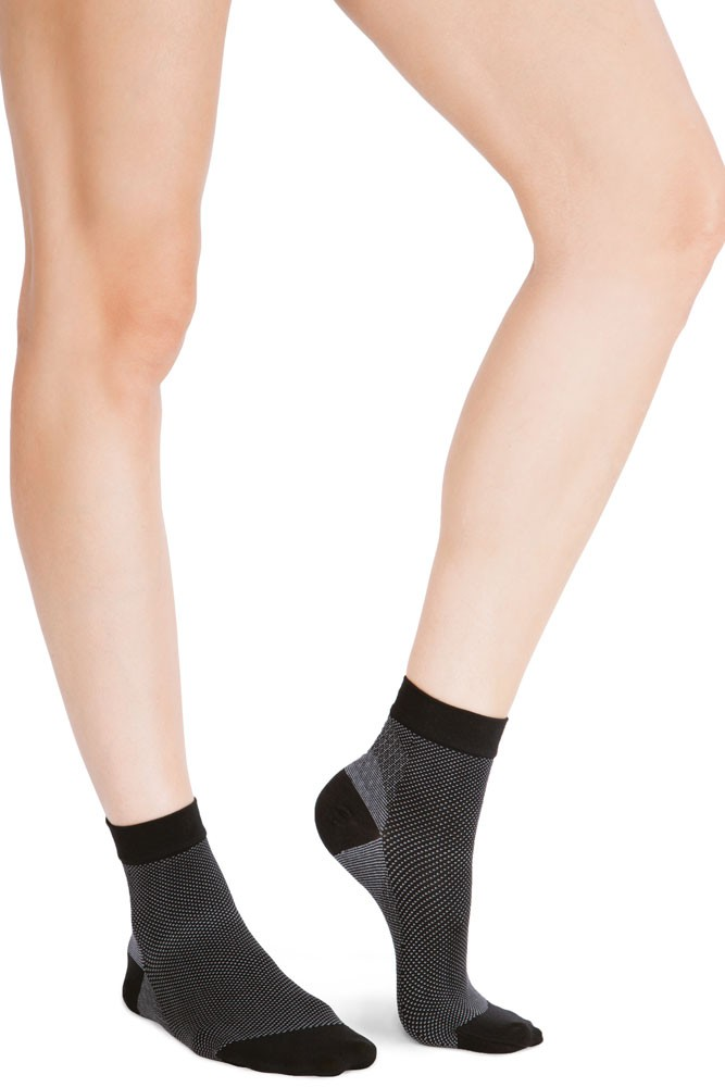 Belly Bandit Compression Ankle Socks 20-30 mm Hg (Black/Grey)