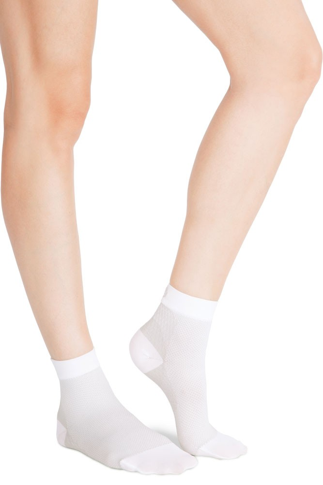 Belly Bandit Compression Ankle Socks 20-30 mm Hg (White/Grey)