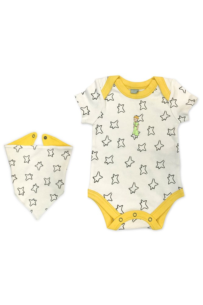 Finn + Emma Little Prince Organic Body Suit & Bib (Little Prince)