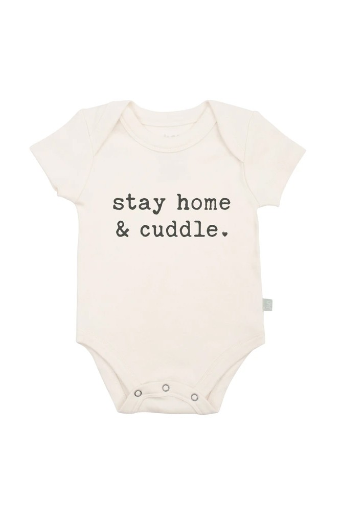 Finn + Emma Graphic Organic Bodysuit (Stay Home & Cuddle)