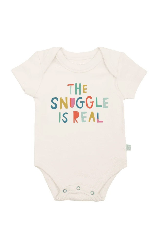 Finn + Emma Graphic Organic Bodysuit (The Snuggle is Real)