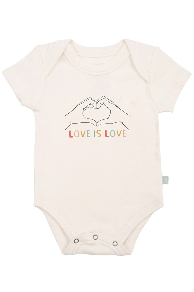 Finn + Emma Graphic Organic Bodysuit (Love is Love)
