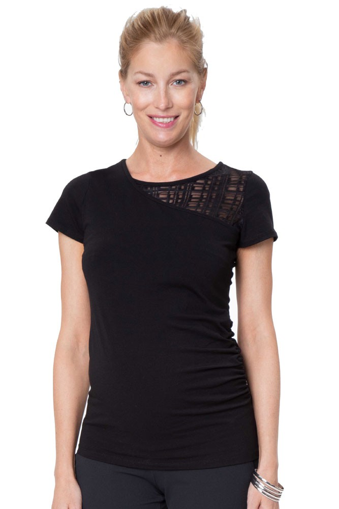 City Maternity & Nursing Top (Black)