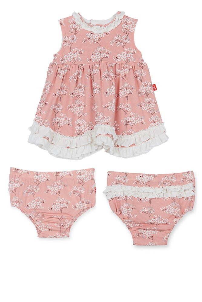 Magnetic Me™ by Magnificent Baby Modal Dress with Diaper Cover (Cherry Blossom)