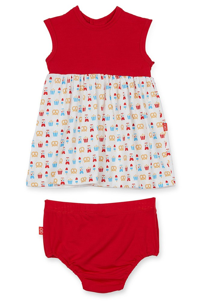 Magnetic Me™ by Magnificent Baby Modal Baby Girl Dress with Diaper Cover (Summer Fare)