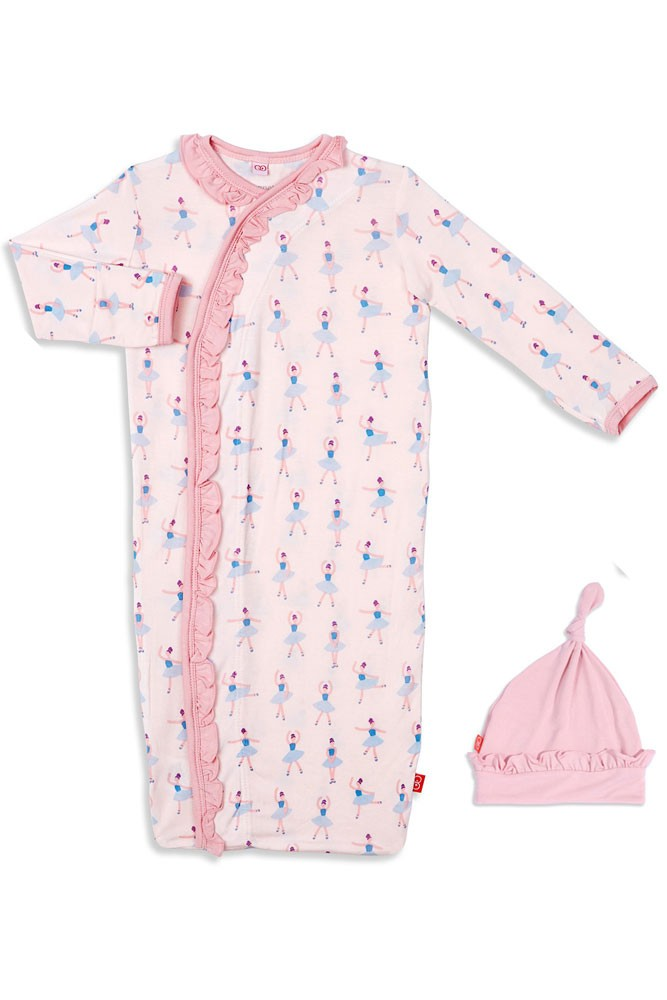 Magnetic Me™ by Magnificent Baby Modal Gown & Hat Set (Prima Ballerina)