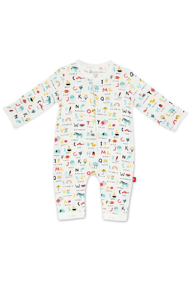 Magnetic Me™ Modal Magnetic Baby Coveralls (ABC Love)