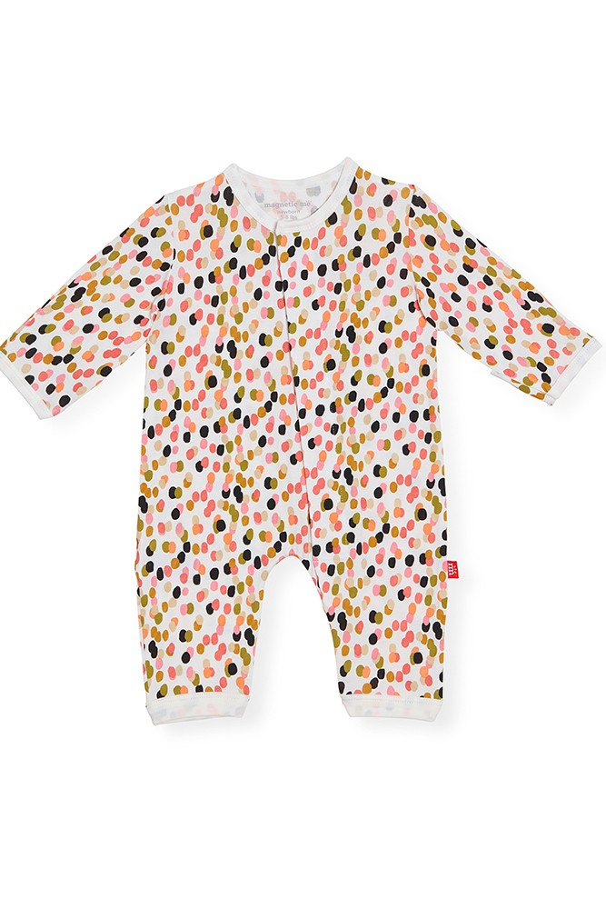 Magnetic Me™ Modal Magnetic Baby Coveralls (Confetti)