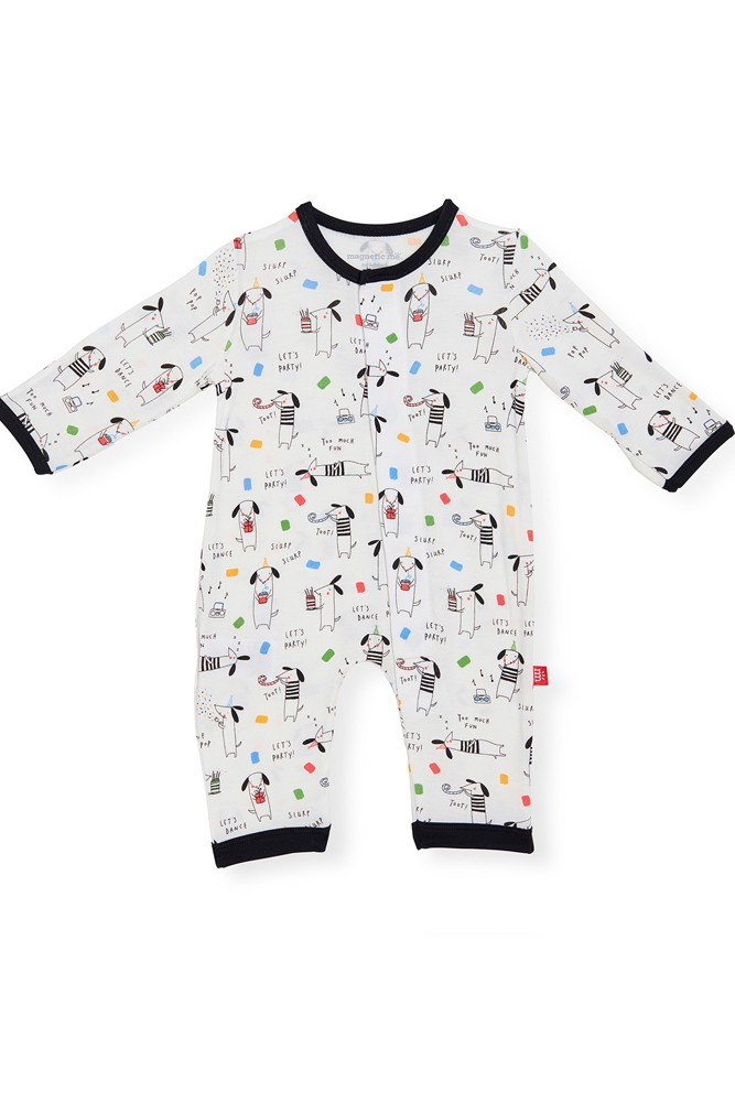Magnetic Me™ Modal Magnetic Baby Coveralls (Raise the Woof)