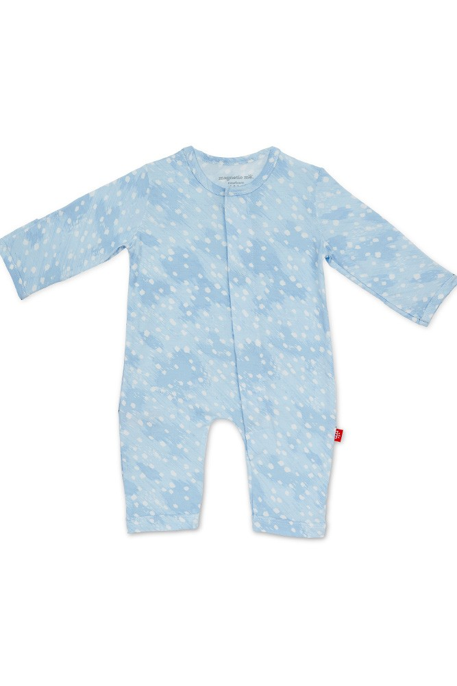 Magnetic Me™ Modal Magnetic Baby Coveralls (Blue Doeskin)