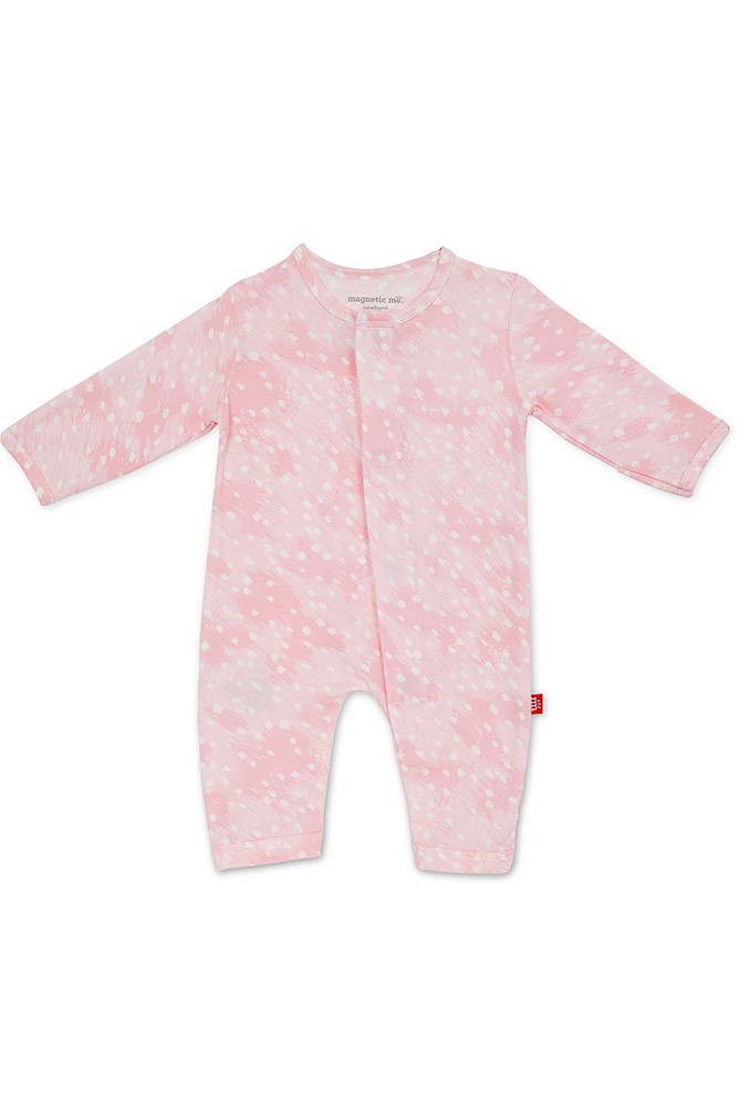 Magnetic Me™ Modal Magnetic Baby Coveralls (Pink Doeskin)