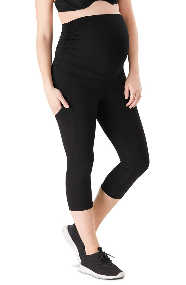 Belly Bandit® ActiveSupport™ Power Capri with Pockets (Black)