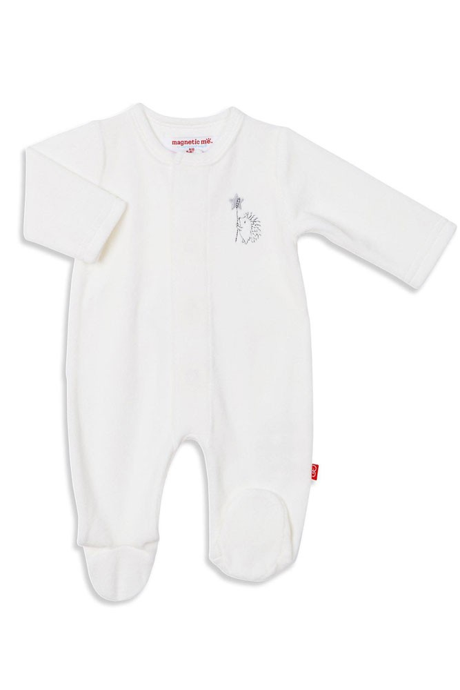Magnetic Me™ by Magnificent Baby Velour Footie (Celestial Elephant)