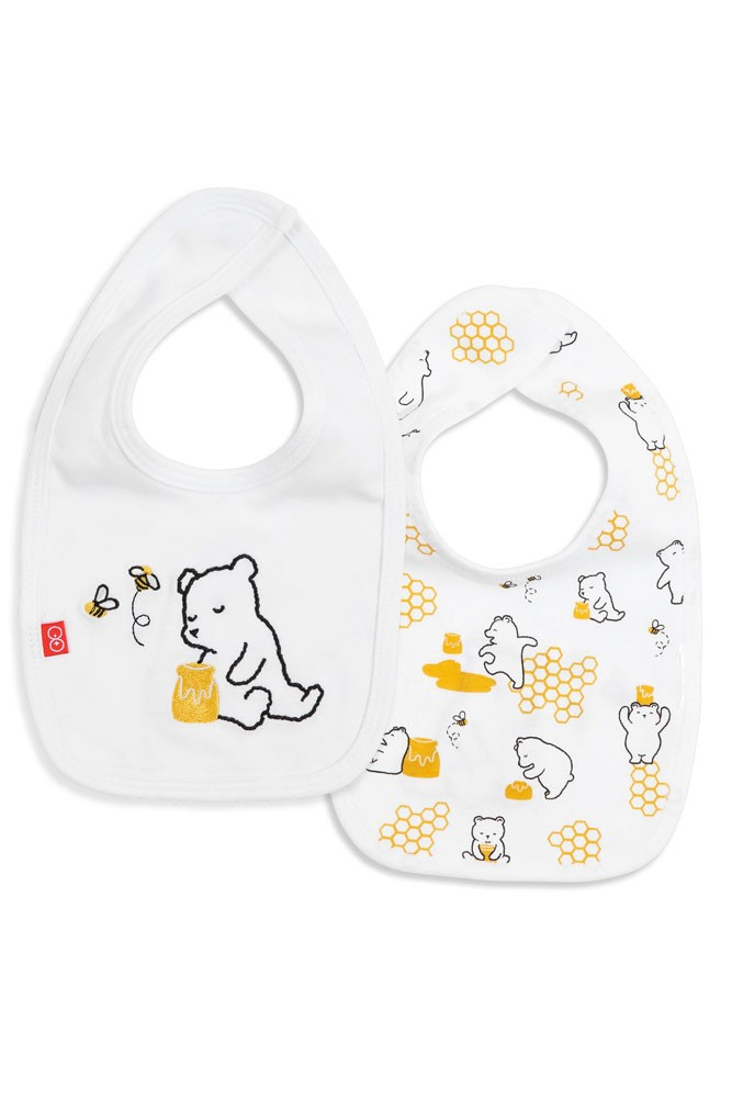 Magnetic Me™ by Magnificent Baby 100% Organic Cotton Magnetic Reversible Bib (Honey Bee Mine)